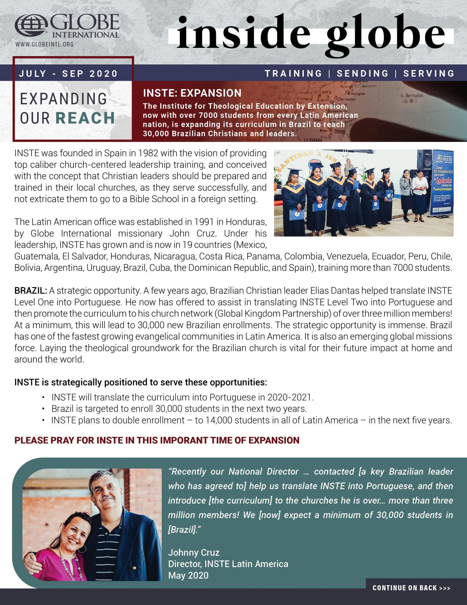 Globe International Newsletter October - December 2019