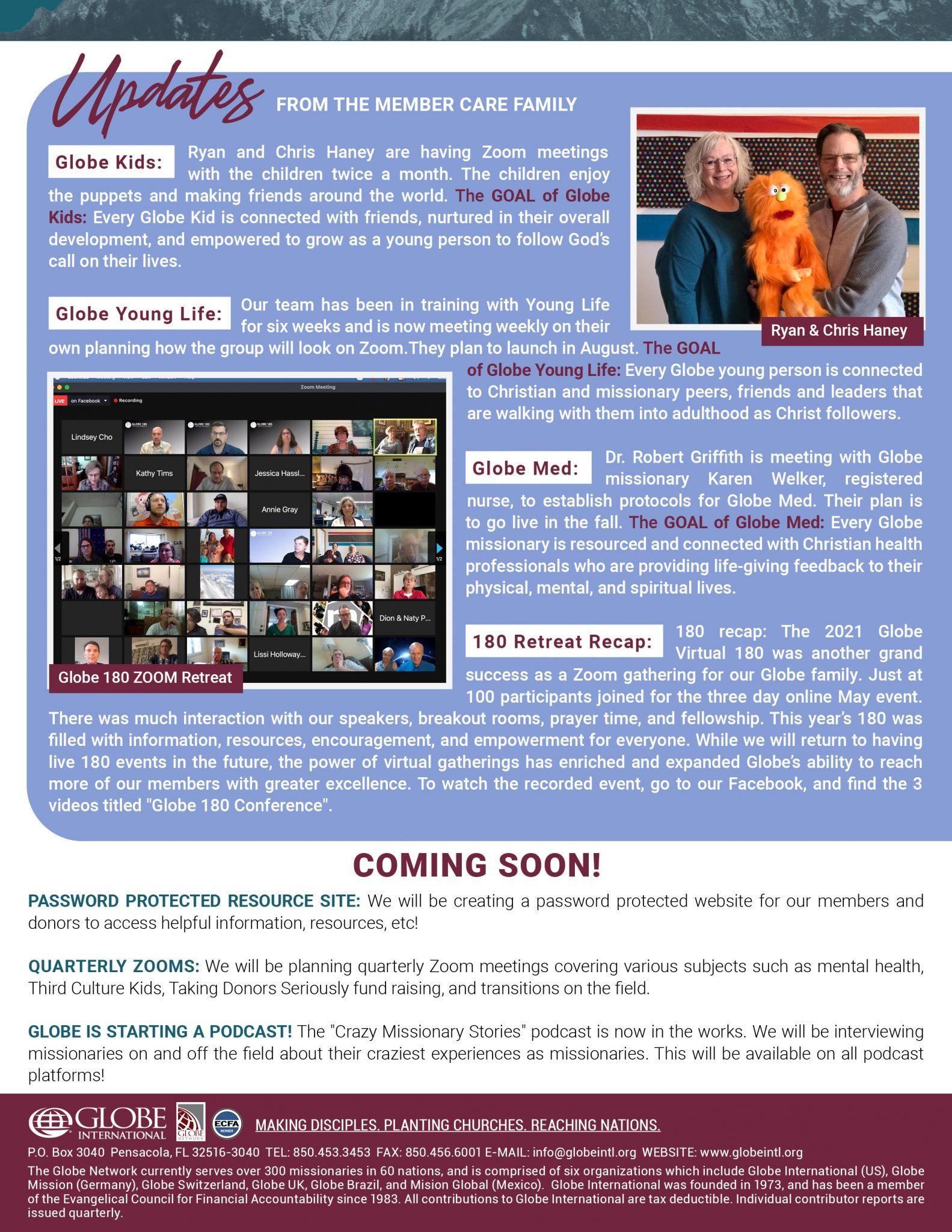 Globe International Newsletter